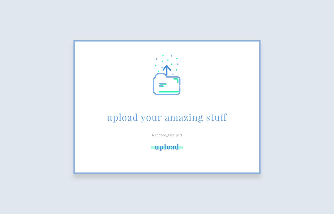 app file upload UI ux Interface animation  motion design Web