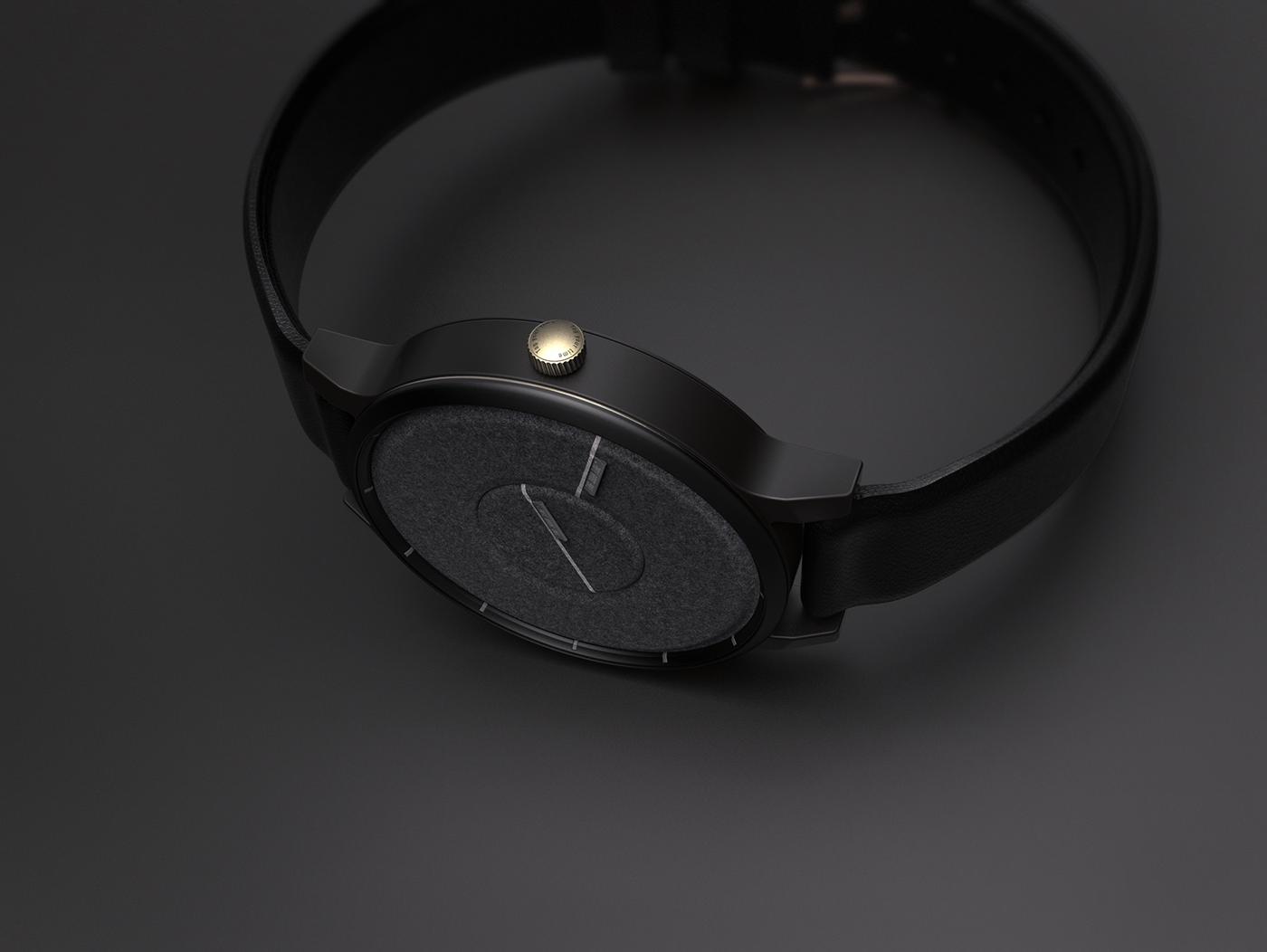 felt Denim watch clock tag Label time cloth