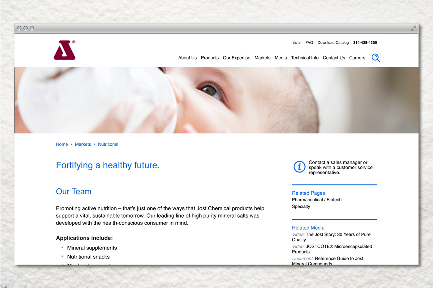 Web Design  jost chemical