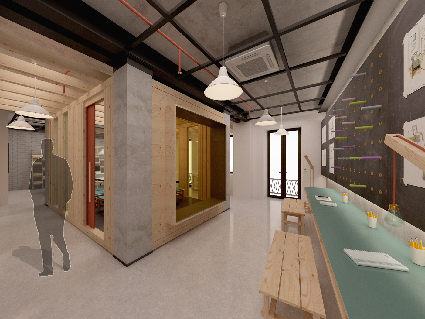 Co working environment in appartamento lago on behance for Appartamento lago brera