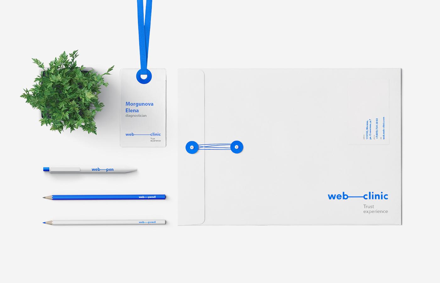 medicine clinic doctor Web diagnostics Health medical identity brand Med