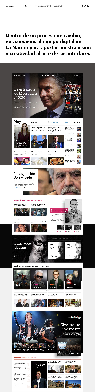 Website newspaper digital Web diario design ux UI wireframe bigdata
