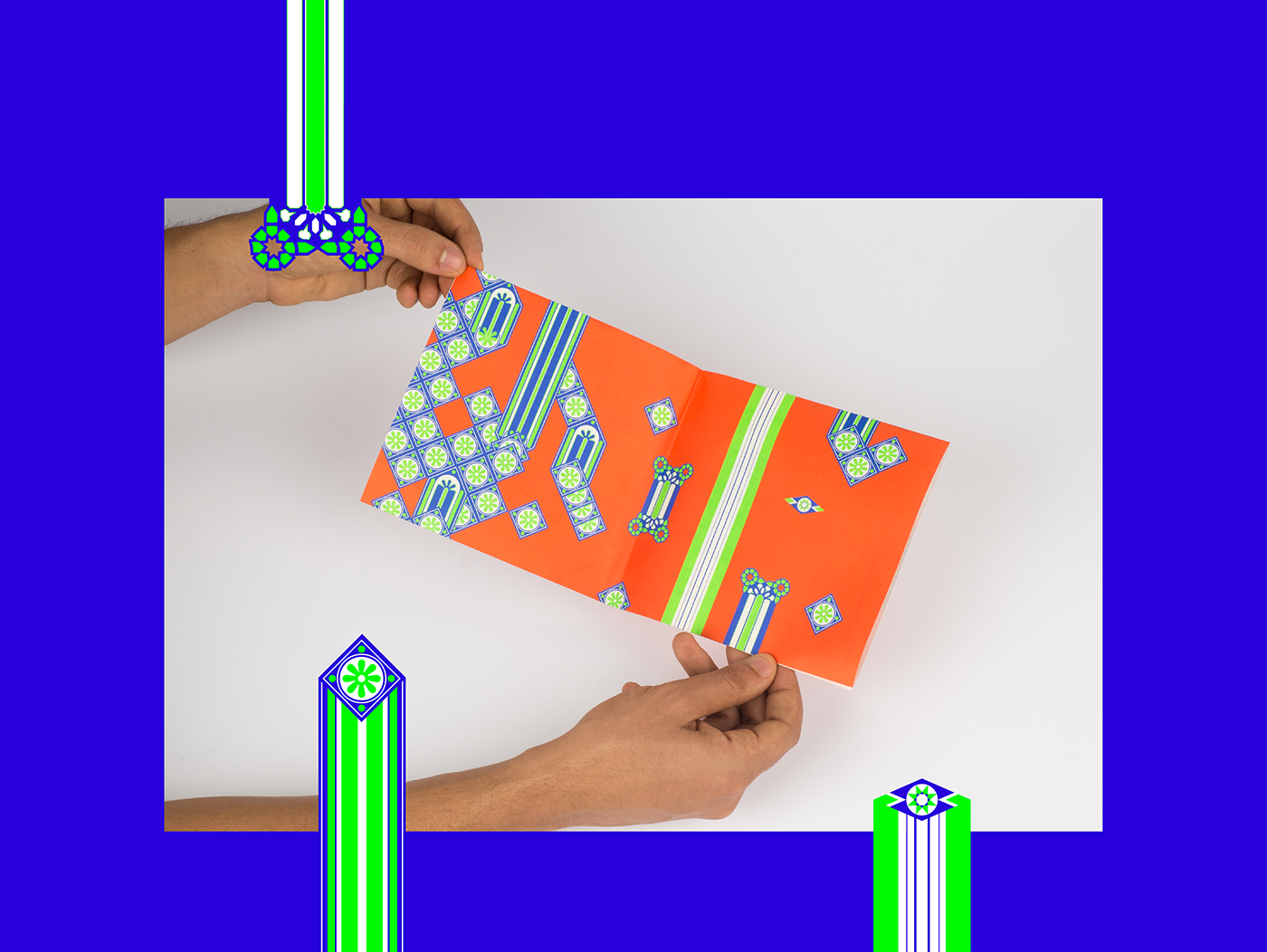 Waraq studio kawakeb lebanon cairo art design brochure Glitch tiles