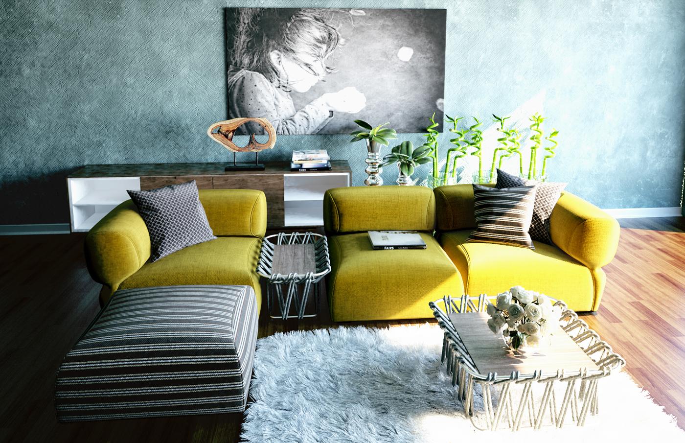 細緻的20套客廳主牆顏色欣賞