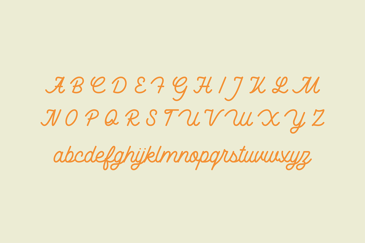 monoline font type lettering handwriting HAND LETTERING rounded Mono cursive Script