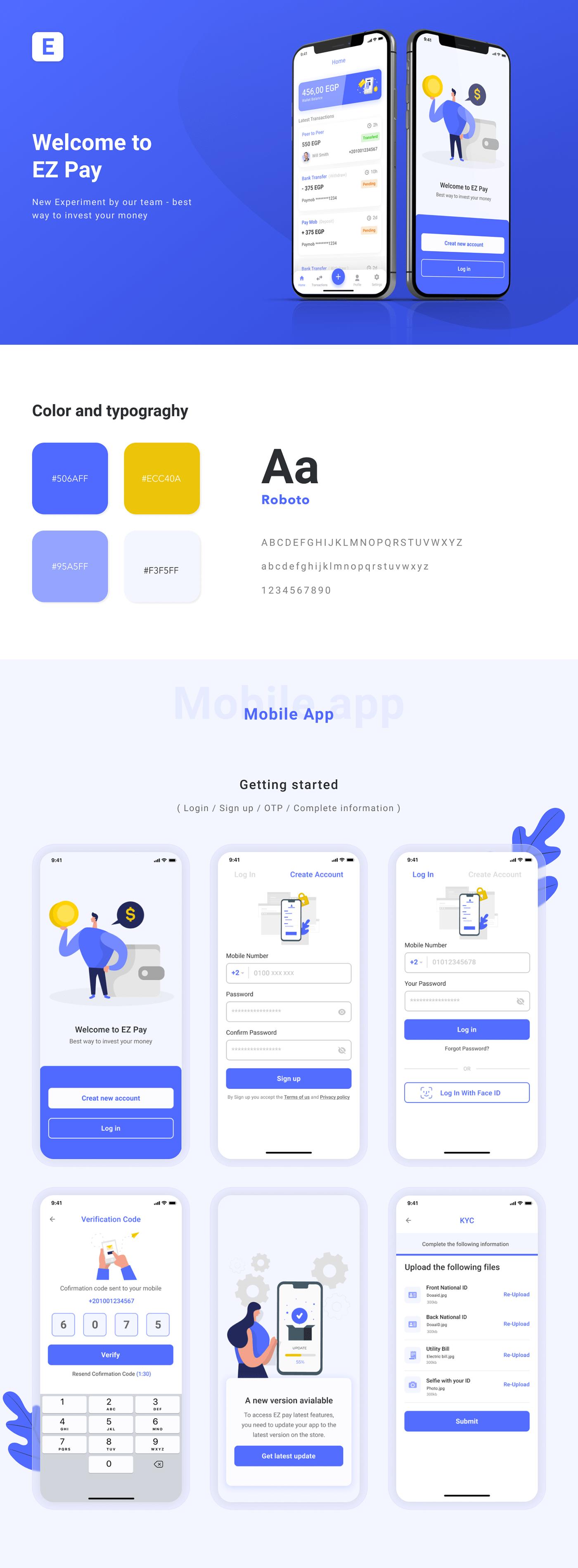 dashboard E-PAY e-wallet financial app Mobile app money money investment online UI/UX uidesign Website Design