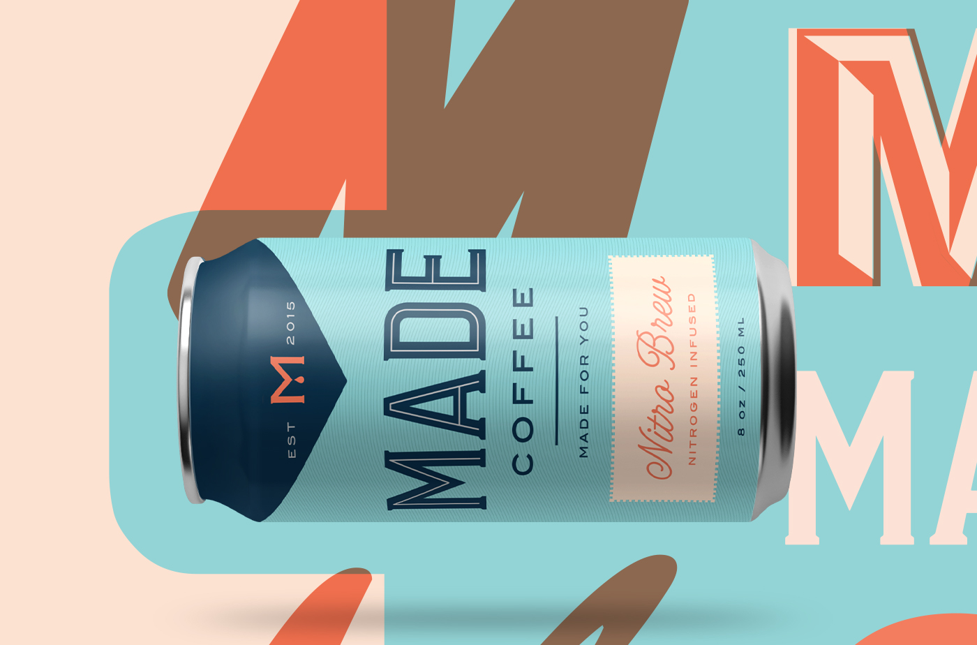 Coffee Packaging design branding  coldbrew can labels