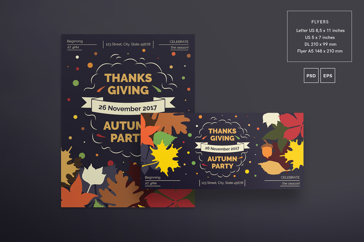 Thanksgiving Party | Modern and Creative Templates on Behance