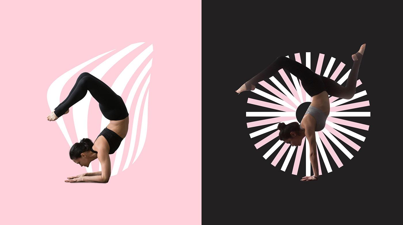 branding  fitness Health beauty Yoga gym design female