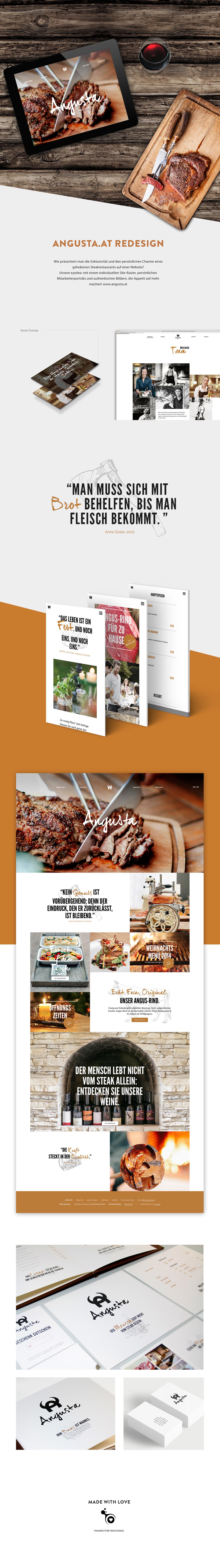 Angusta Steakrestaurant steak Grill&More Gaumenfreude essen trinken Webdesign