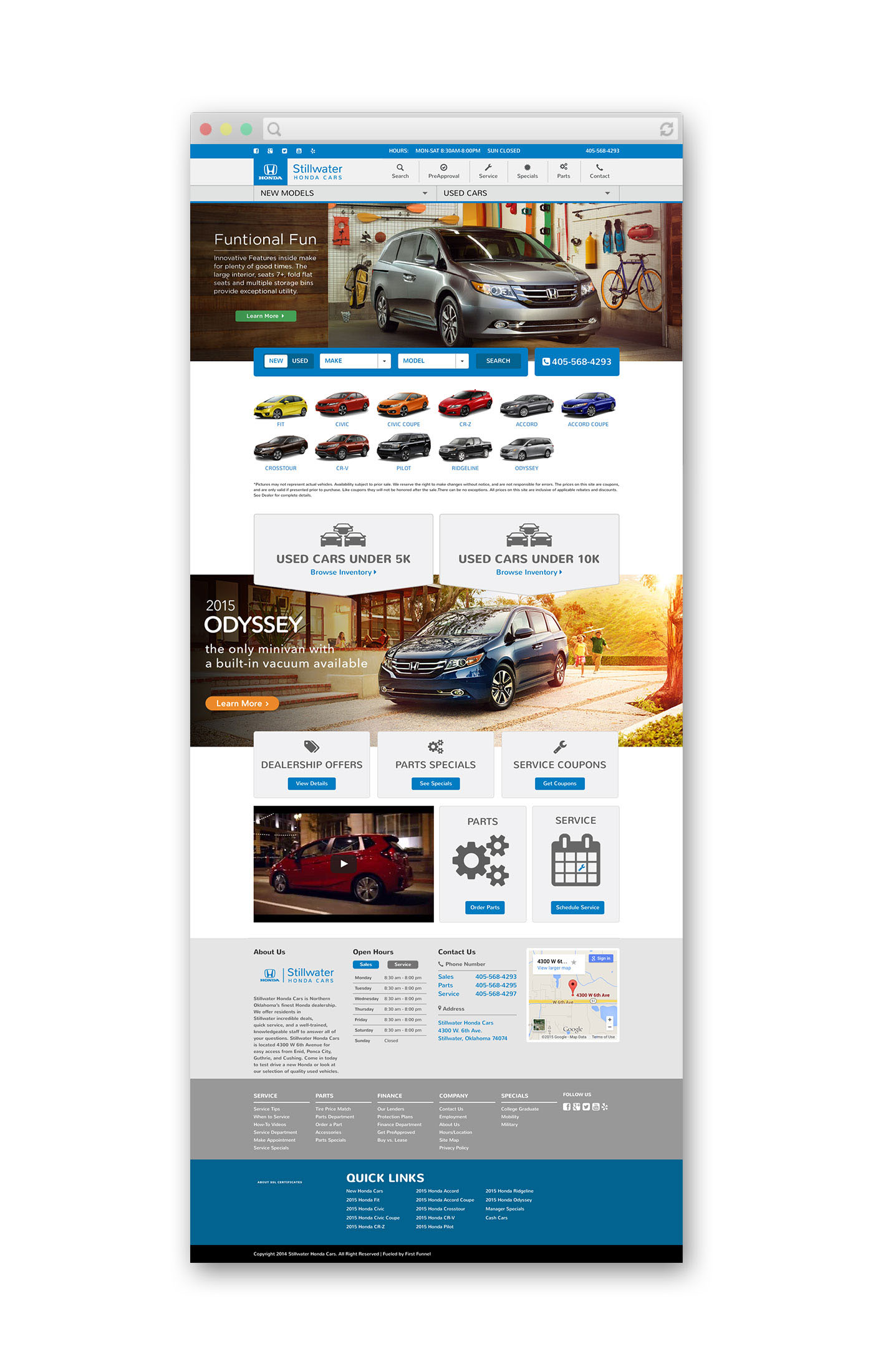 Stillwater Honda Cars - Website Design
