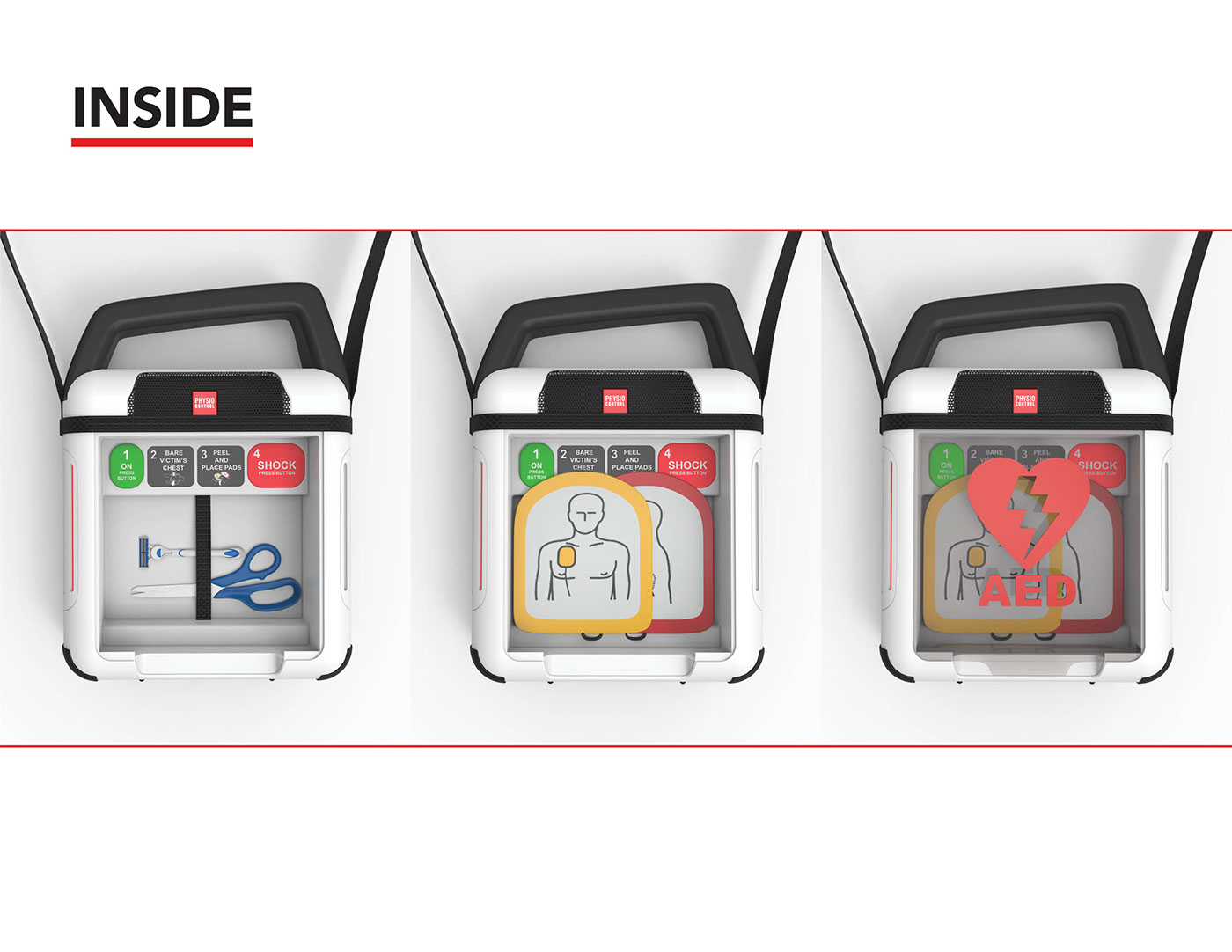 Physio-Control AED for PulsePoint on Behance