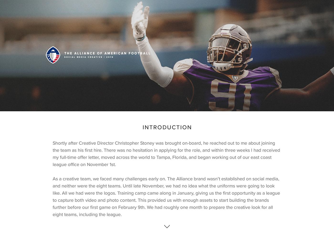 football AAF SMSports Social Media Graphics infographics Sports Infographics nfl Dan Goldfarb Alliance of American