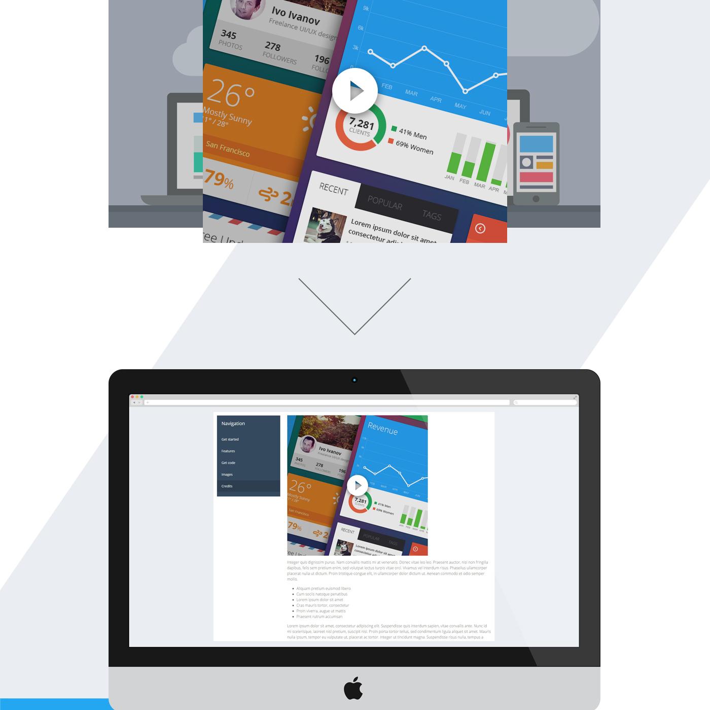 free Website template html5 Responsive freebie documentation Web flat jquery