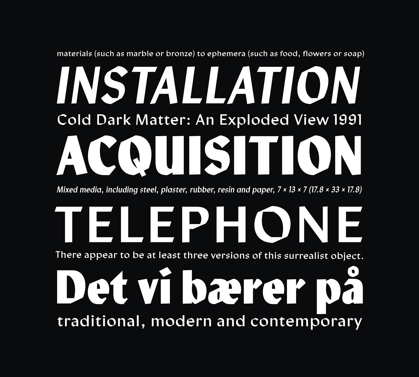 Calligraphy   sans-serif lydian modern contemporary craft art The Northern Block Typeface font