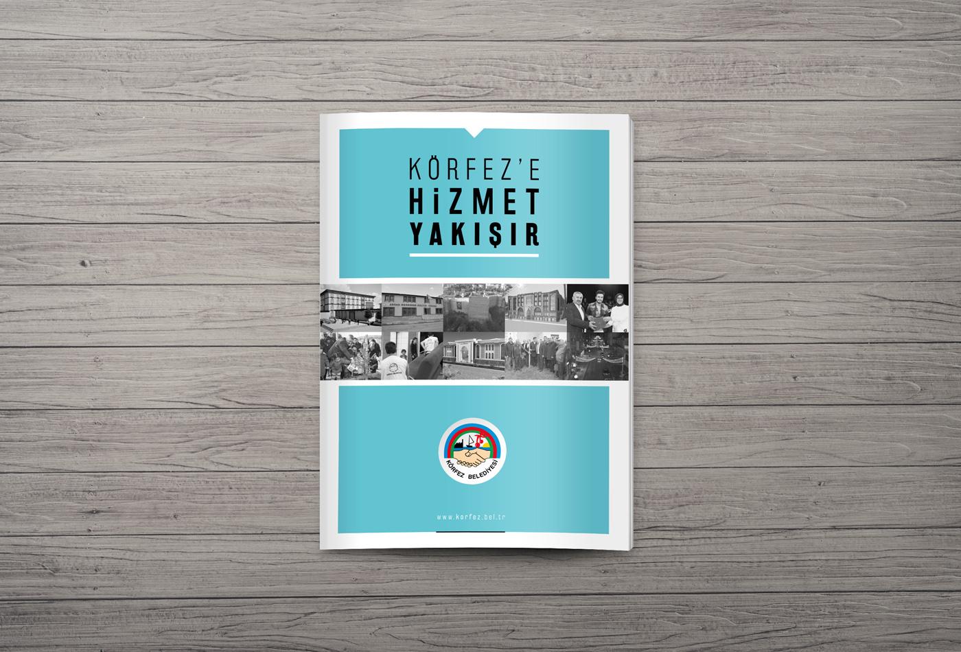 broşür hizmet katalog körfez belediyesi kurgu Mizanpaj tasarım