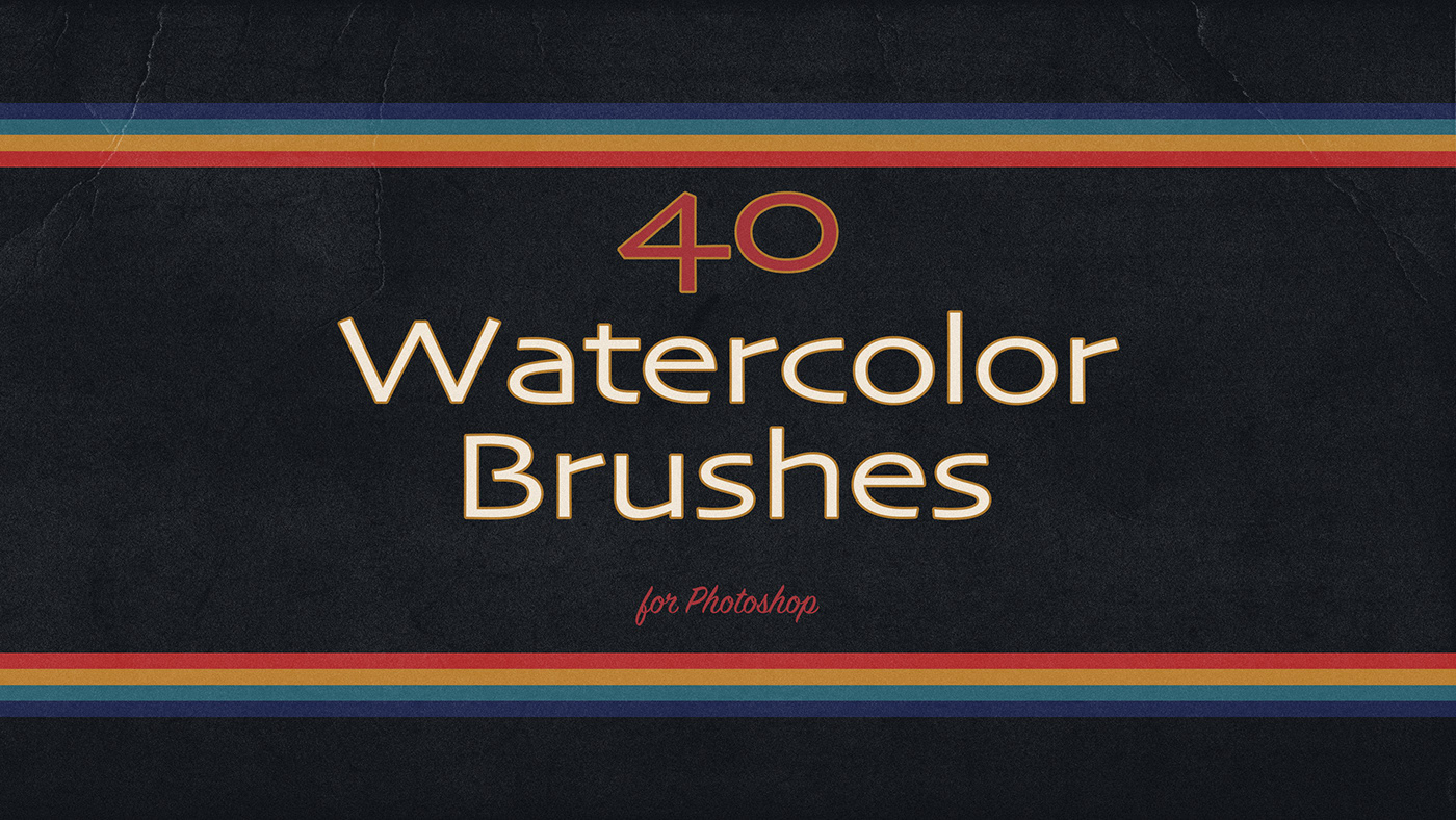 40 watercolor brushes for Photoshop on Behance