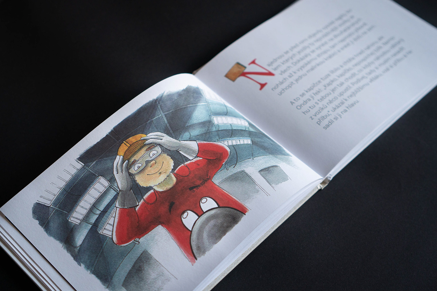 book illustration children childrens book factory ILLUSTRATION  safety instructions watercolor illustration