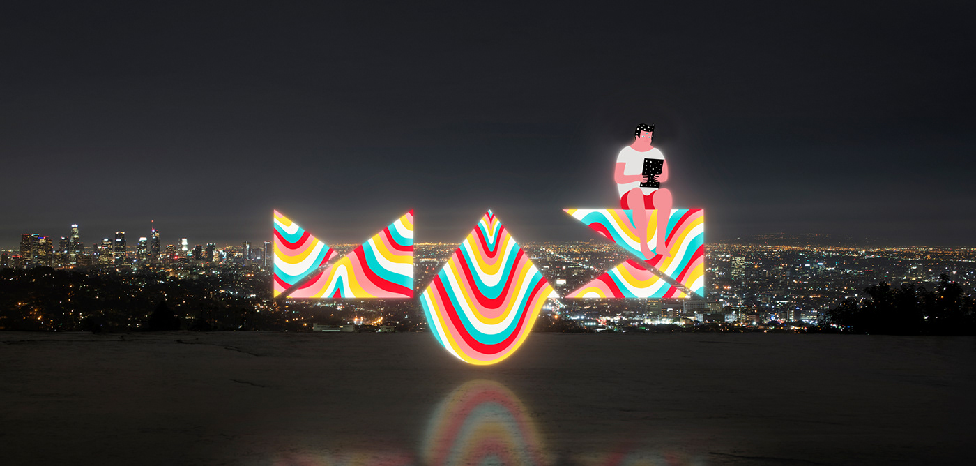 neon MAX melting shapes glow multicolor colors colorful fluid vibrant