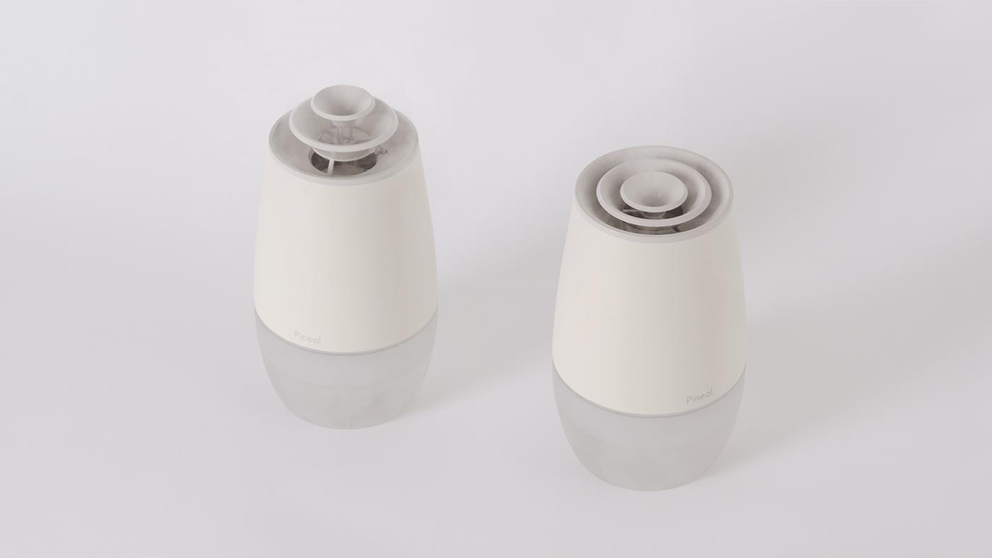 design humidifer hyun yeol shin industrial industrialdesign natural pine cone pineal product productdesign