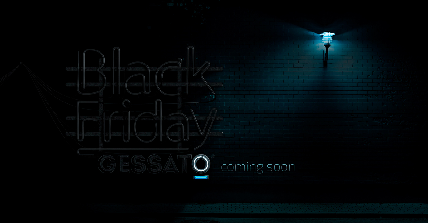 Black Friday gessato 3D NEON 3D cinema 4d