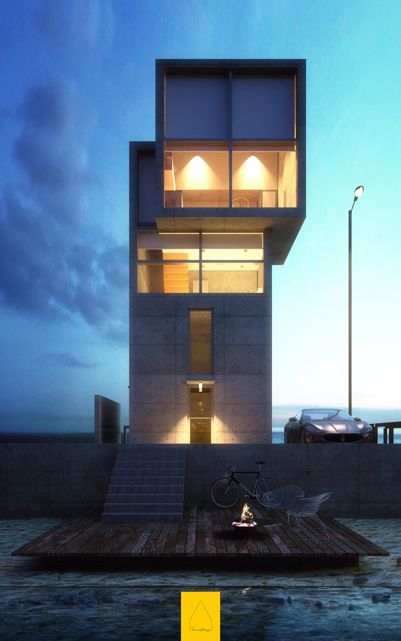 Tadao Ando 4x4 House On Behance