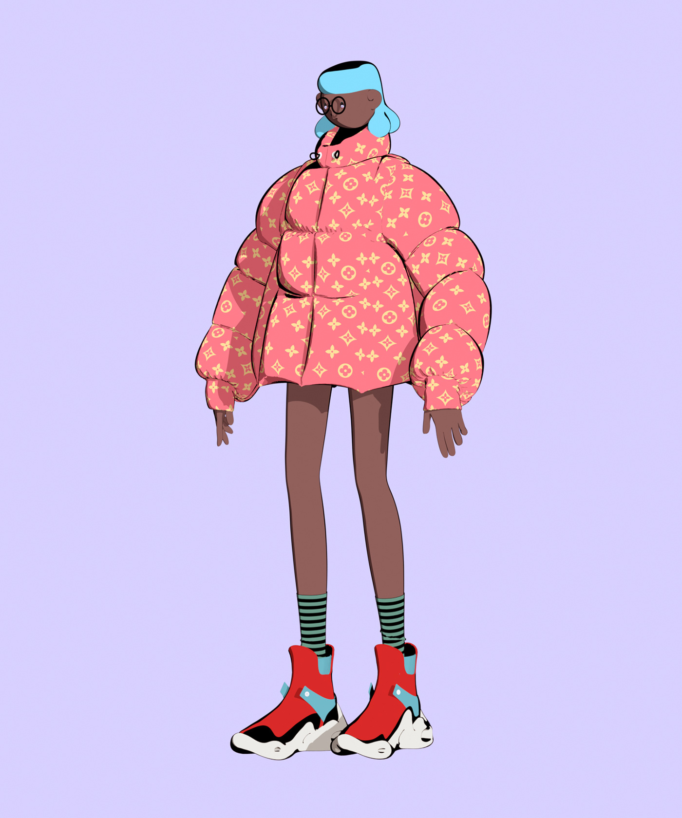 3D adobe illustrator Clothing color girl illustration illustrations marvelous designer