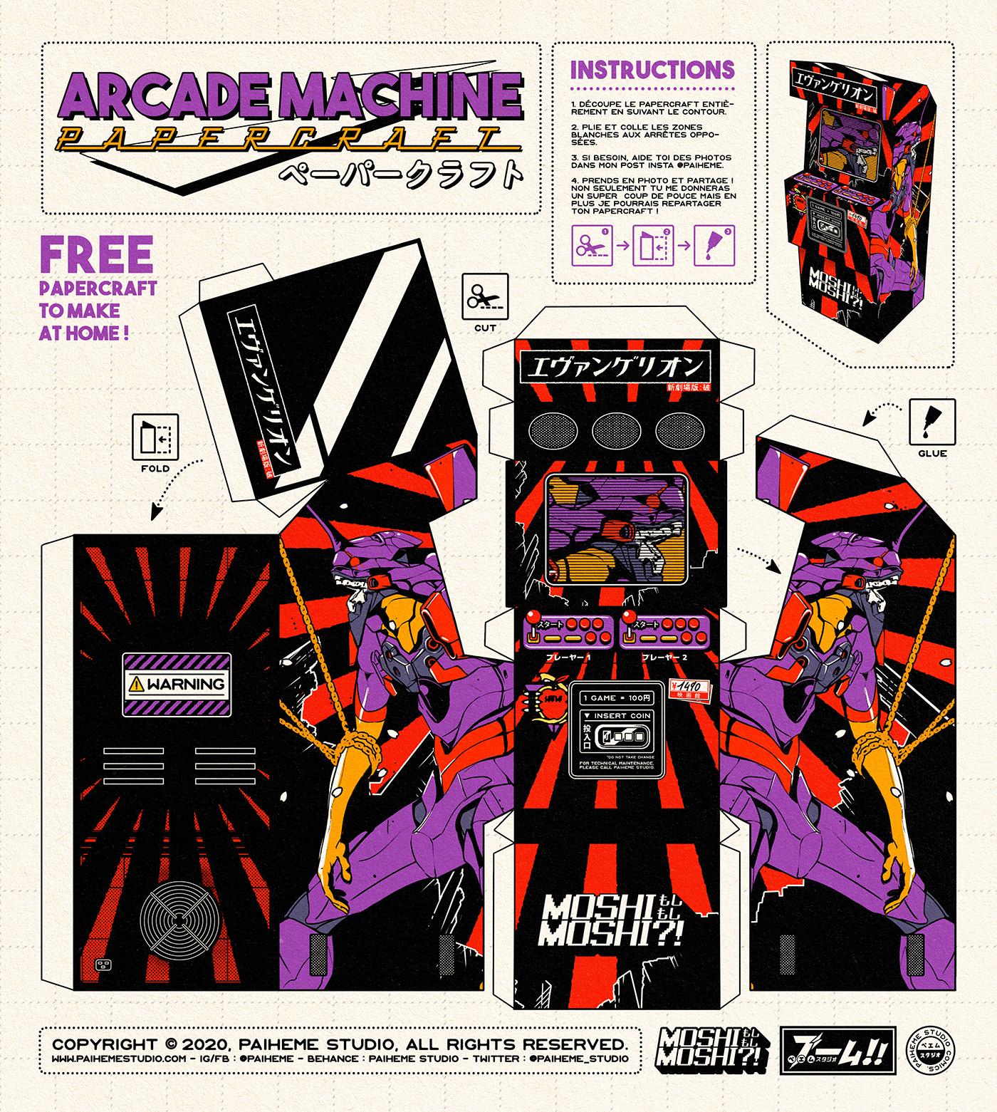 arcade,download,free,machine,paiheme,paihemestudio,papercraft,Retro,retrogaming,vintage