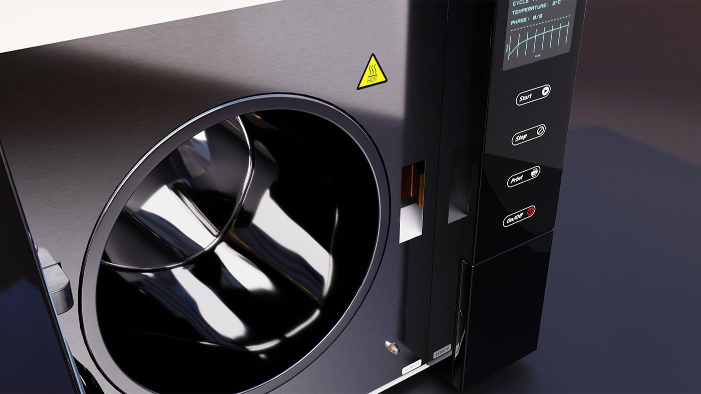 3D blender concept design industrialdesign product productdesign Render texture sterilizer