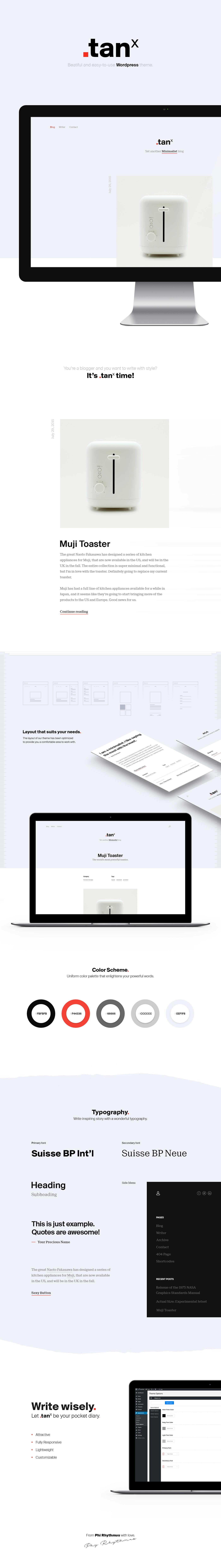 minimal Website Theme template wordpress free freebie Blog swiss clean personal portfolio