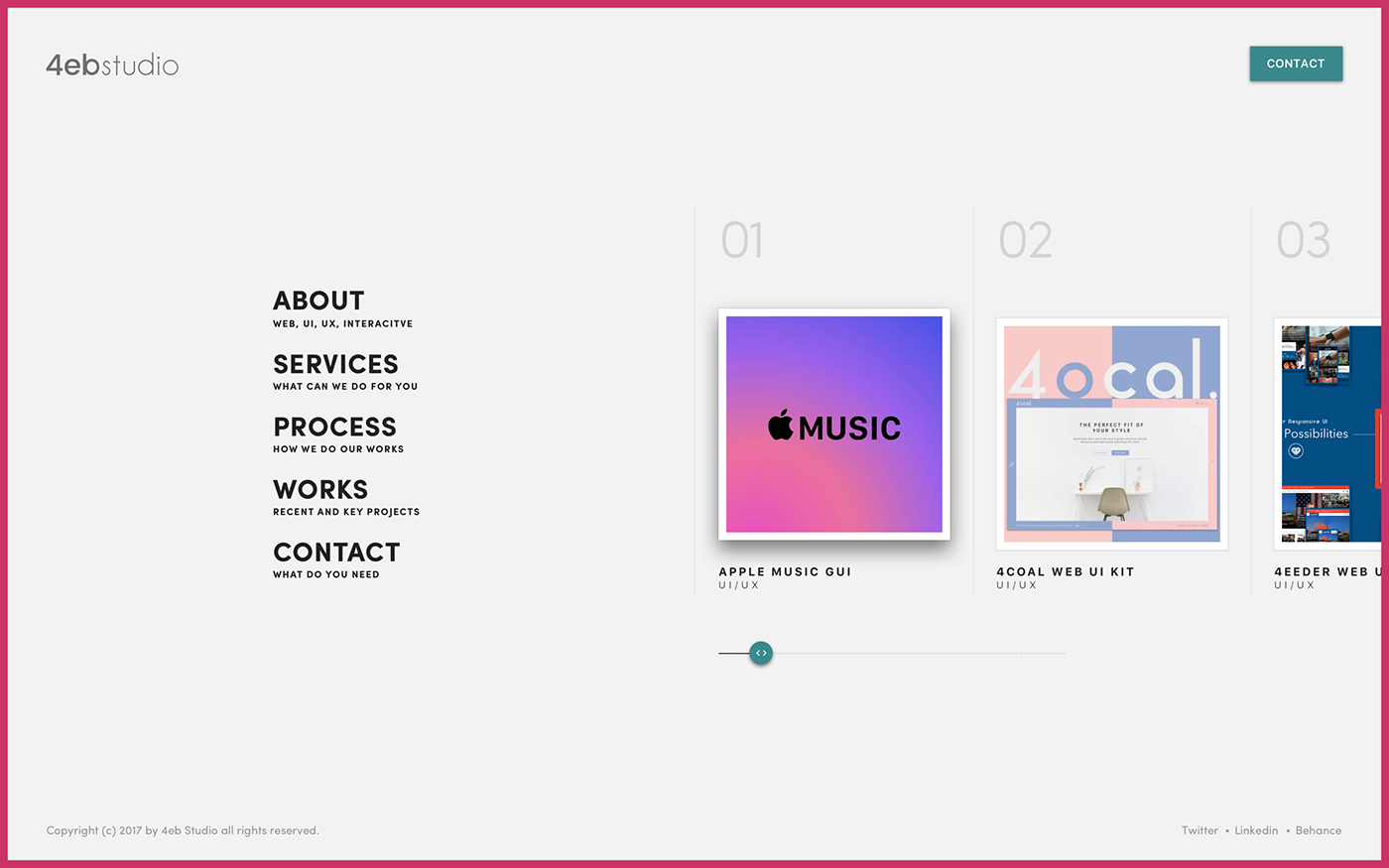 creative portfolio Web fullscreen animation  interaction svg Website