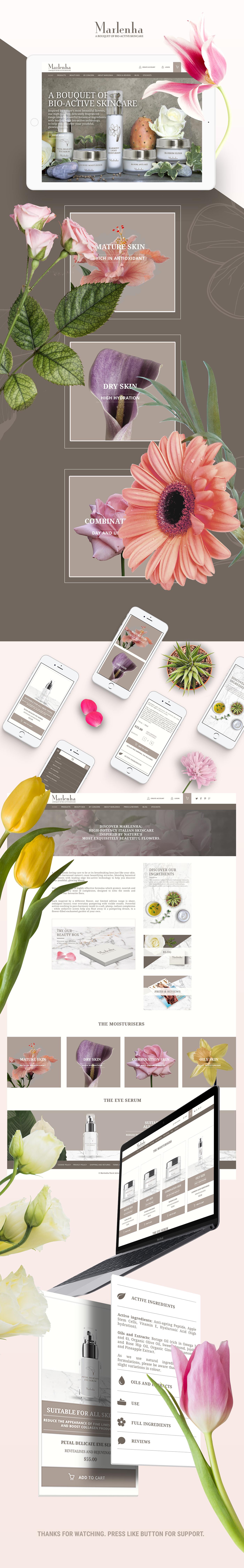 skincare Italy flower UI Website Ecommerce London Fragrance botanic cream