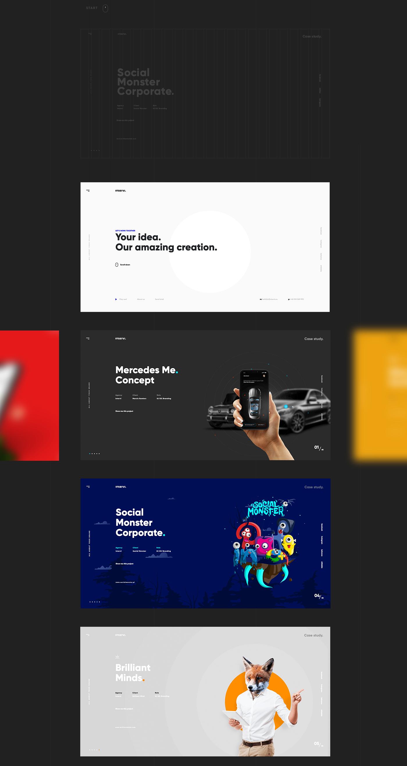 INTERVI,UI,ux,Web,design,Webdesign,art direction ,Website,agency,branding