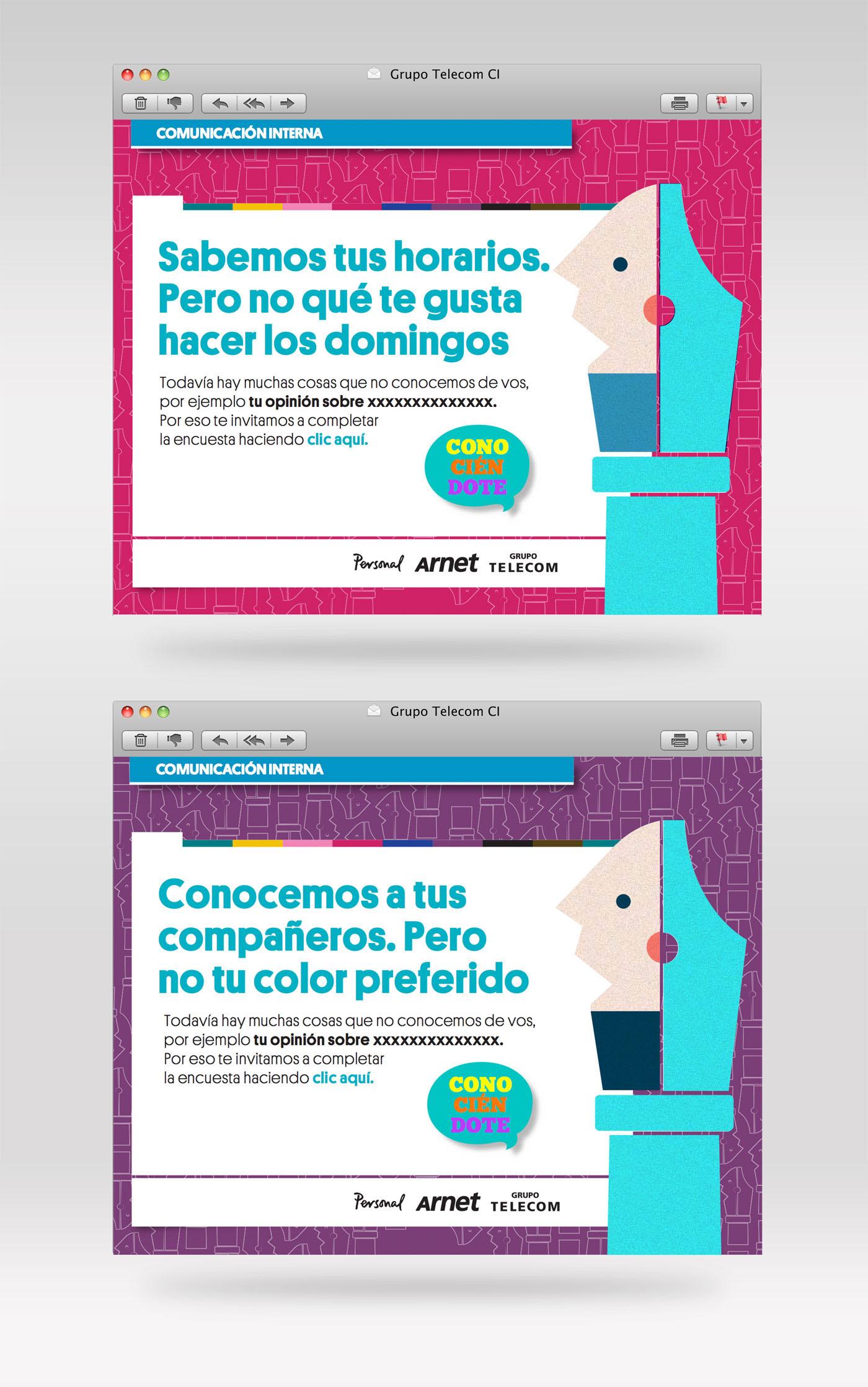 Web emailing Identidad Corporativa comunicacion interna editorial identity visual identity corporative Telecom tipography