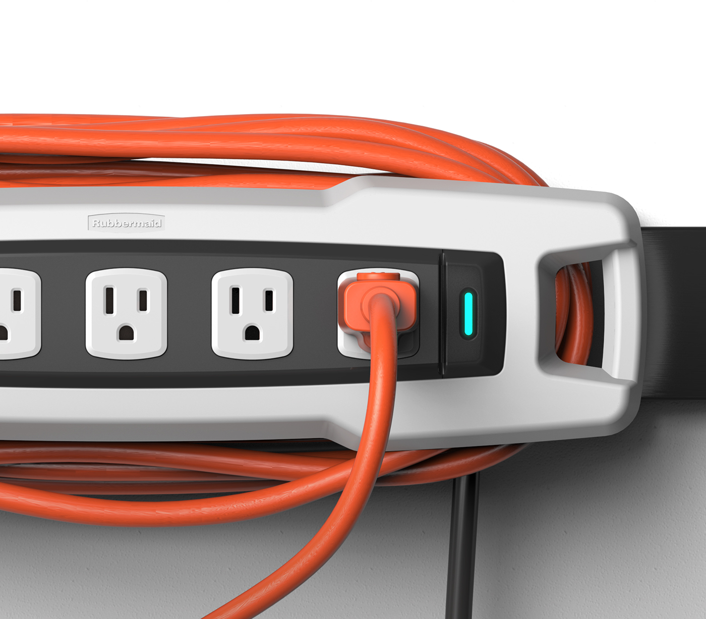 Rubbermaid fasttrack power strip on behance for Rubbermaid fasttrack