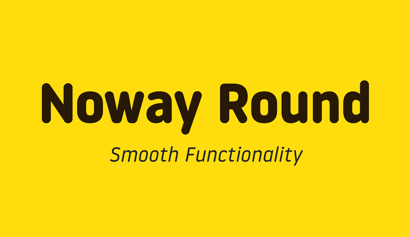 Typeface rounded font round free