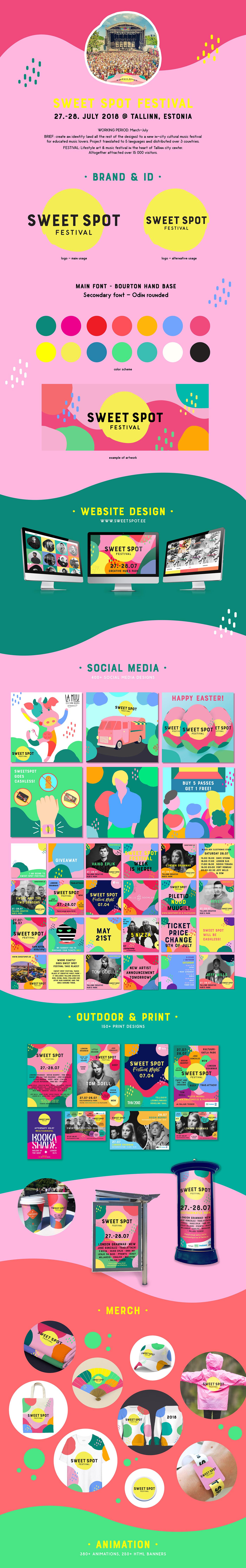 Music Festival Event Design festival summer Fun happy colorful color branding  Estonia