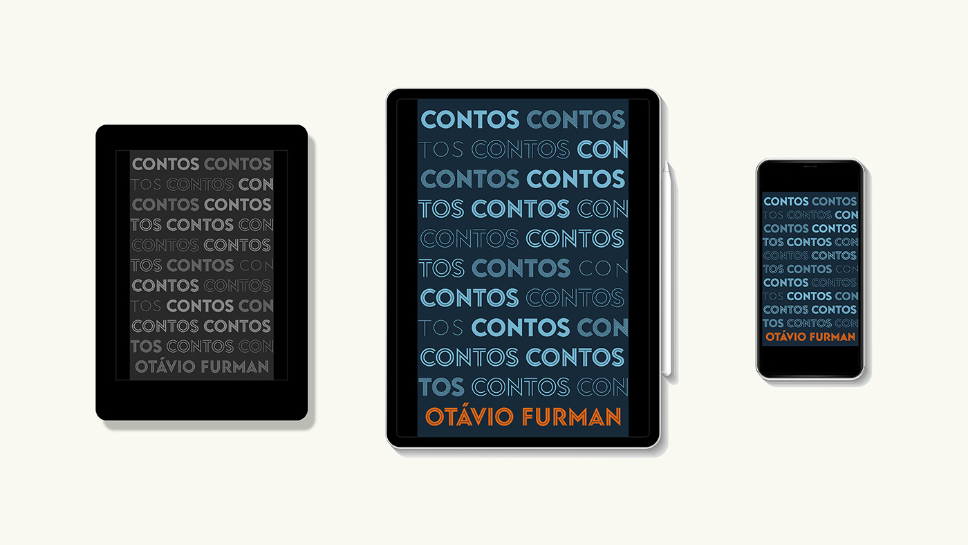 Book cover on e-reader, tablet and mobile devices.