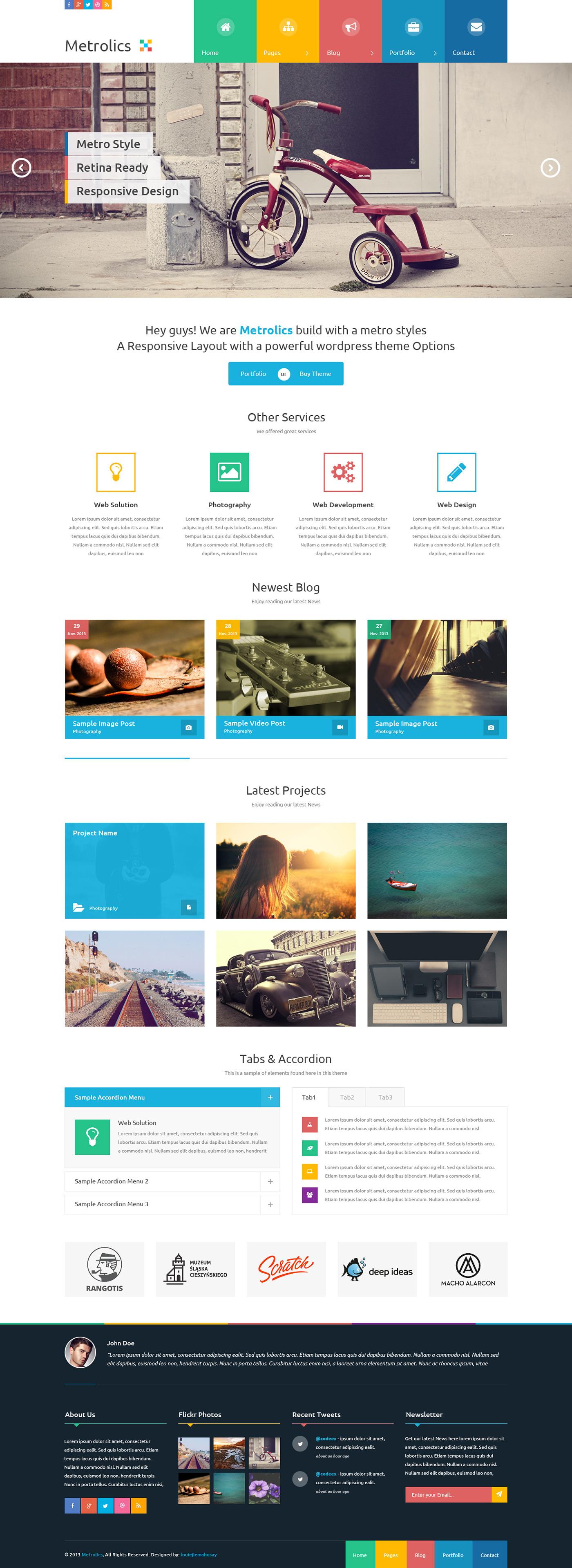 Wunderbar Metro Stil Web Vorlage Zeitgenössisch - Beispiel ...