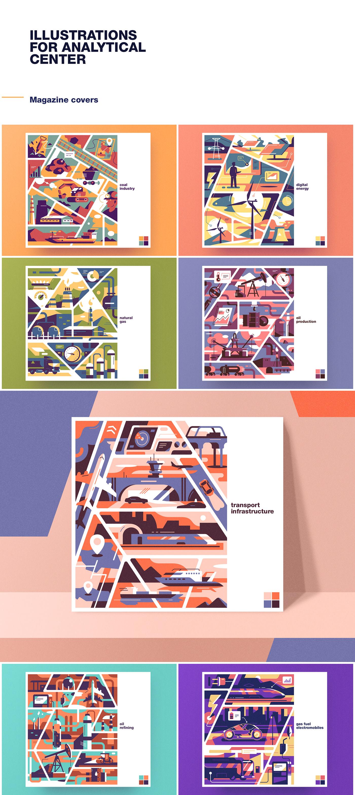 tolstovbrand illustrations vector flat Analytical Center