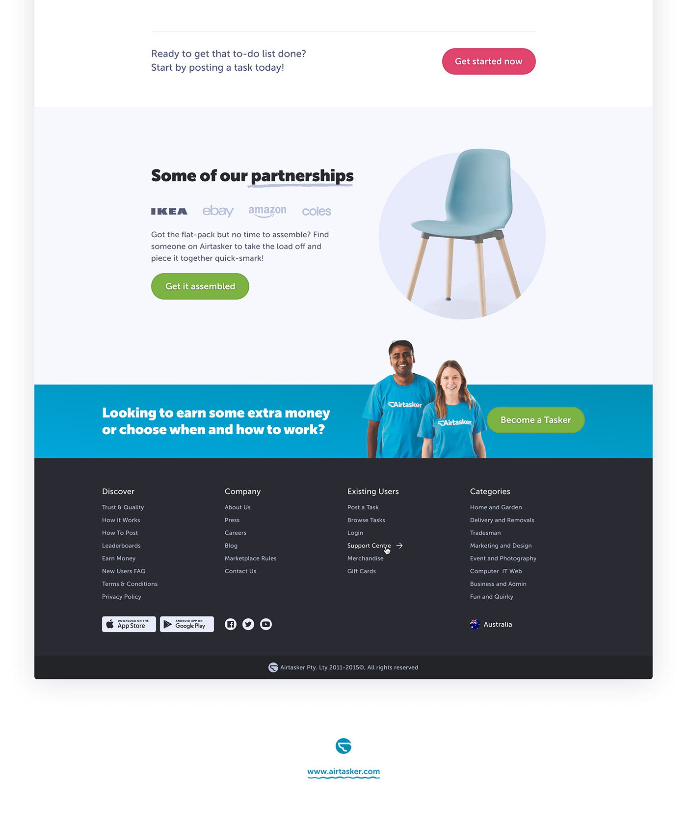 Airtasker → Homepage Redesign on Behance