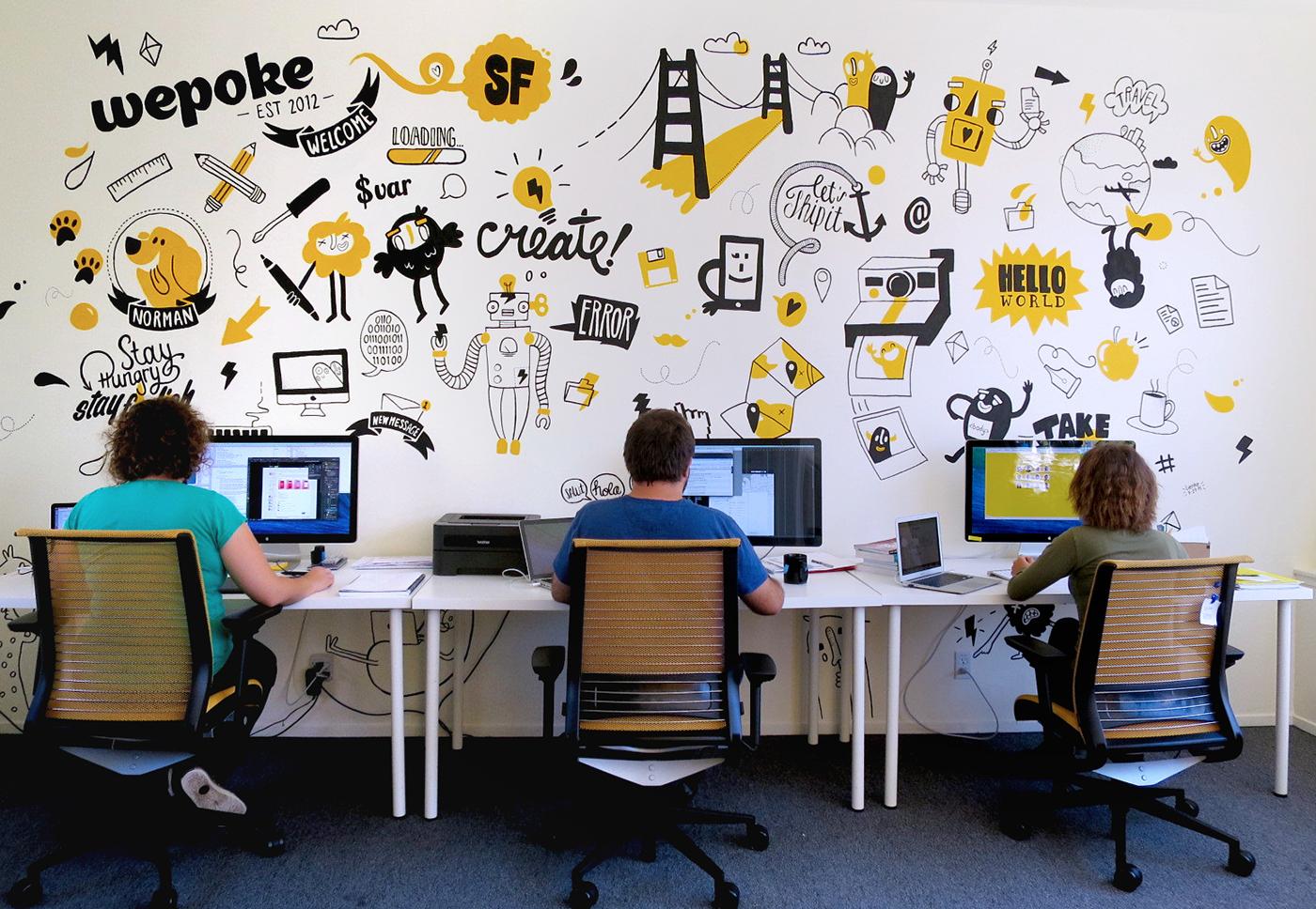многих рисунок для офиса на стену стал отходить