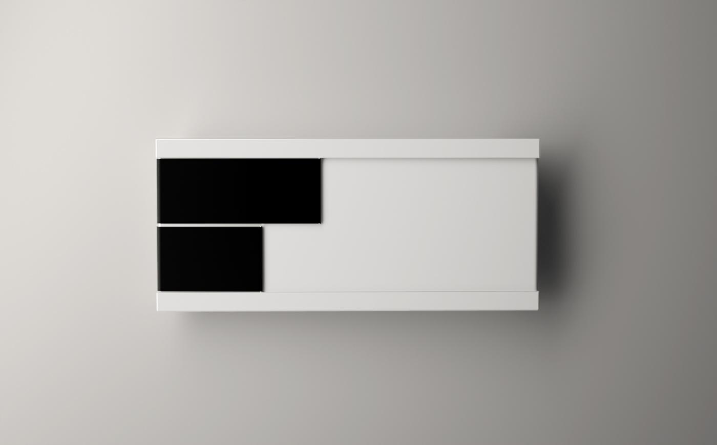 clock james tobin Interior timepiece minimal modern black and white mhin