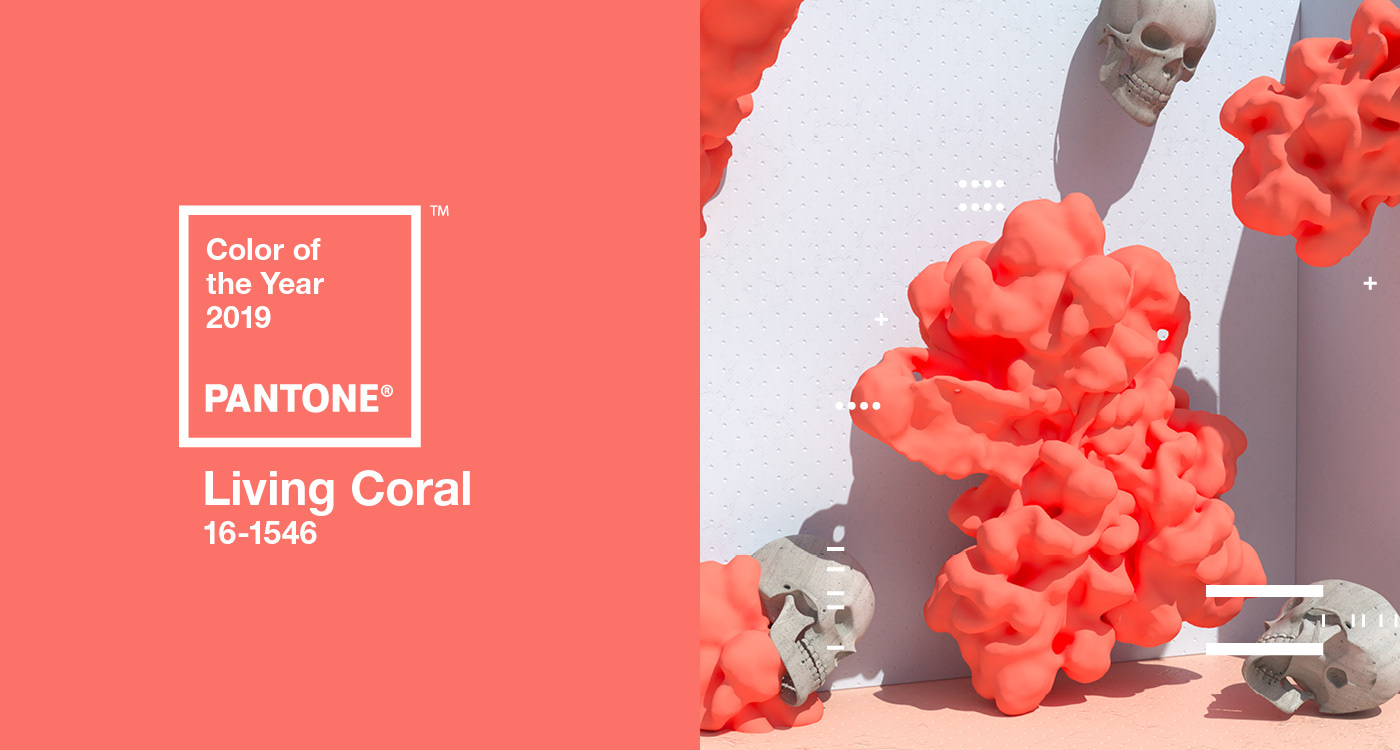 pantone color of the year 2019 living coral on behance. Black Bedroom Furniture Sets. Home Design Ideas