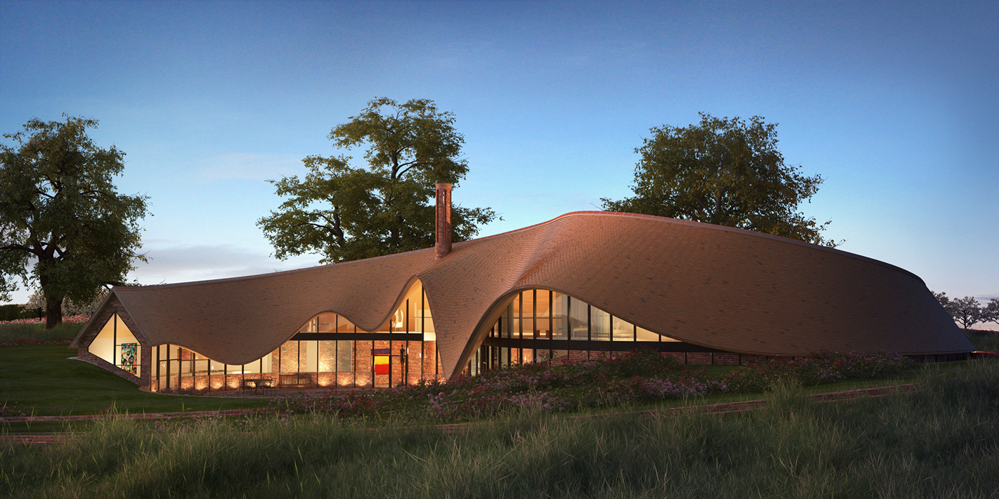Ockington Country House Architectural Visualisation On