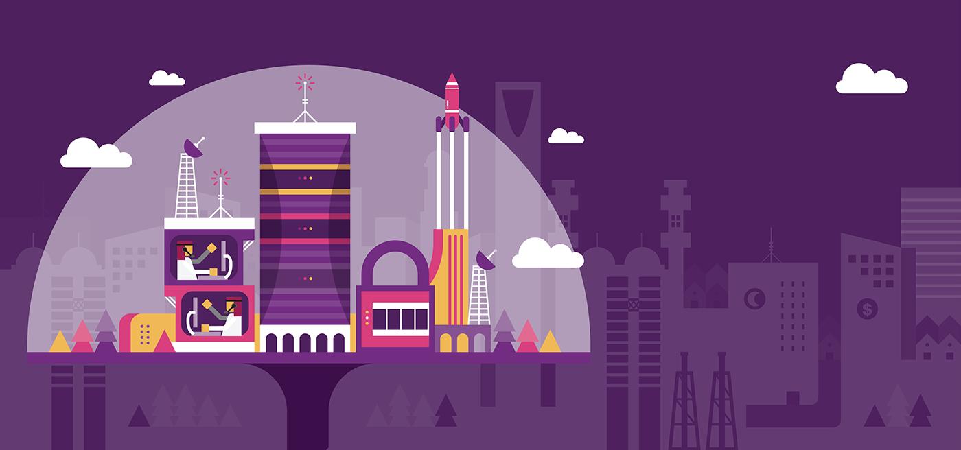 Arab Saudi cloud Smart city information communication telco services stc