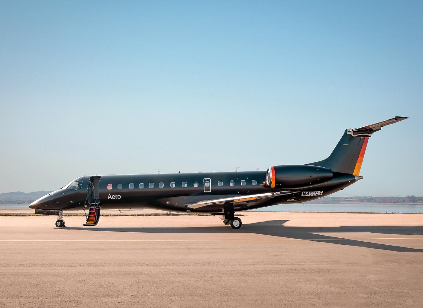 aero air travel airline brand identity branding  livery design luxury oddone san francisco visual identity