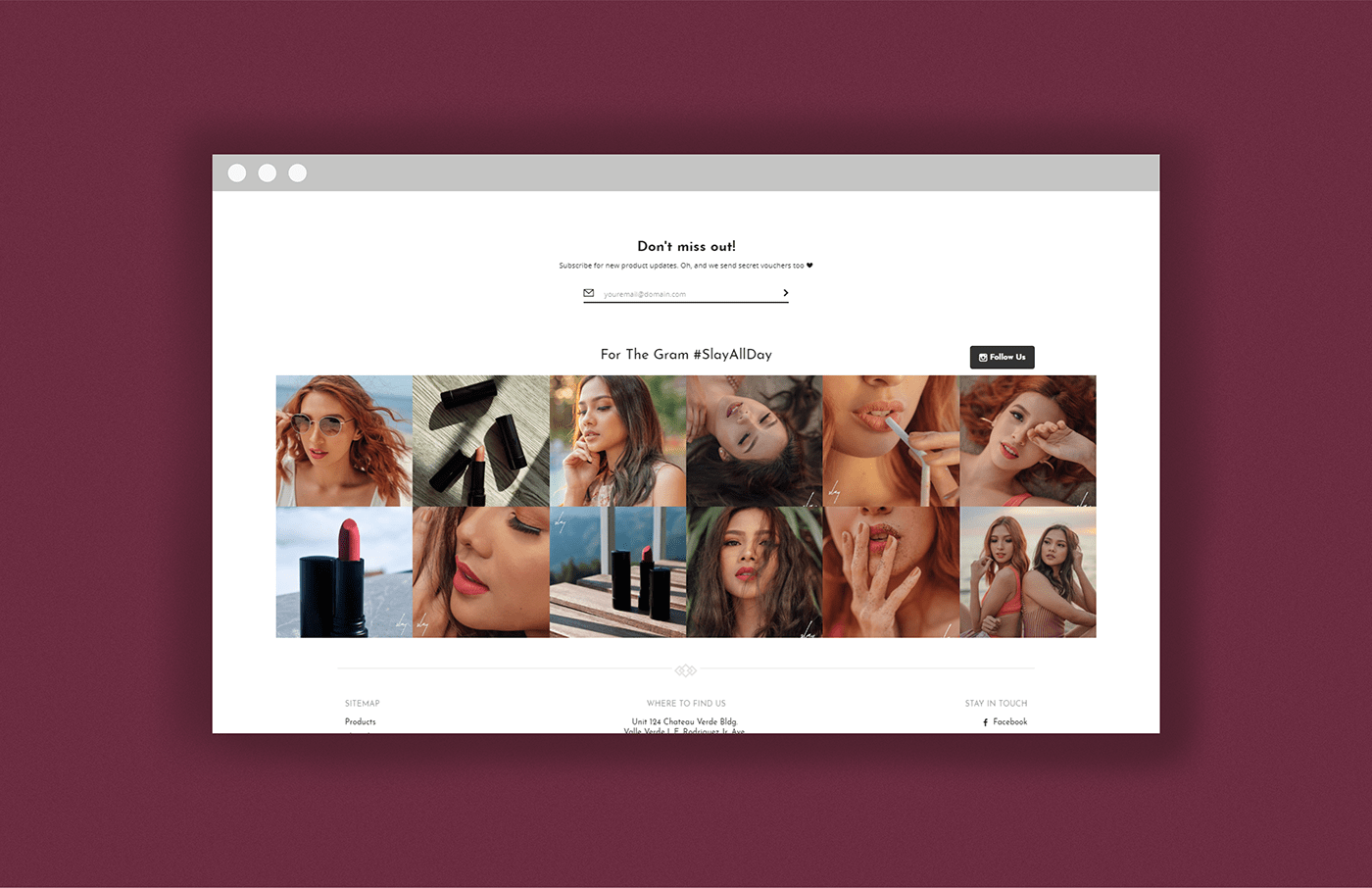 cosmetics makeup art direction  Web Design  web development  lipstick branding