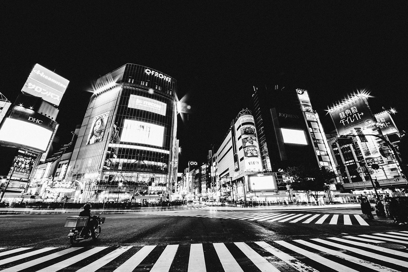 tokyo japan Street streetphotography SHIBUYA Sushi people black and white lights city