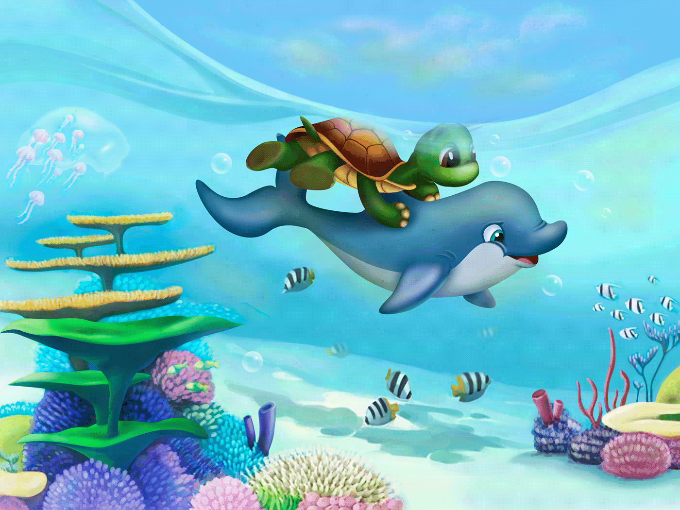 Image may contain: reef, aquarium and cartoon
